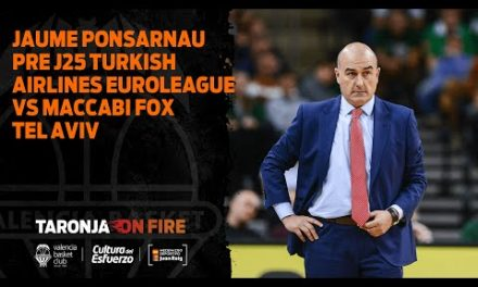 20 02 20 Jaume Ponsarnau Pre J25 Turkish Airlines Euroleague vs Maccabi Fox Tel Aviv