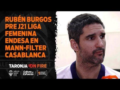 Rubén Burgos pre J21 Liga Femenina Endesa en Mann Filter Casablanca