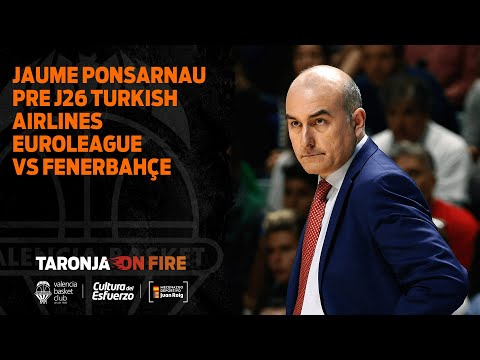 Jaume Ponsarnau Pre J26 Turkish Airlines Euroleague vs Fenerbahçe