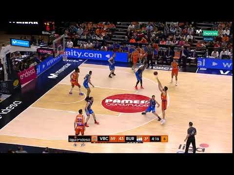 Tercer Triple Mike Tobey J22 Liga Endesa vs San Pablo Burgos