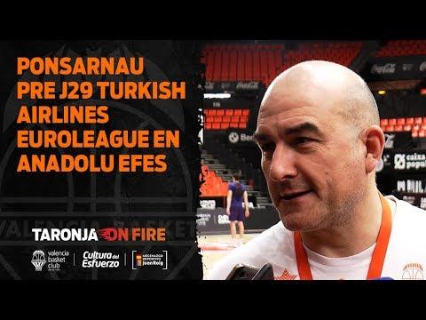Jaume Ponsarnau pre J29 Turkish Airlines EuroLeague en Anadolu Efes