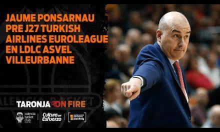 Jaume Ponsarnau Pre J27 Turkish Airlines Euroleague en LDLC Asvel Villeurbanne
