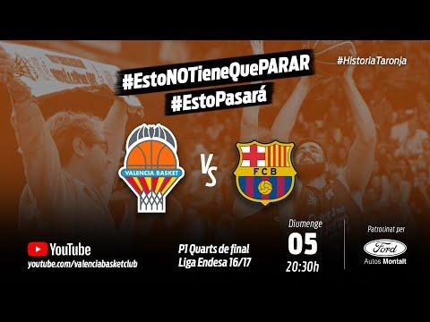 Partido 1 PlayOff 16-17 Cuartos de Final Liga Endesa vs FC Barcelona Lassa #HistoriaTaronja