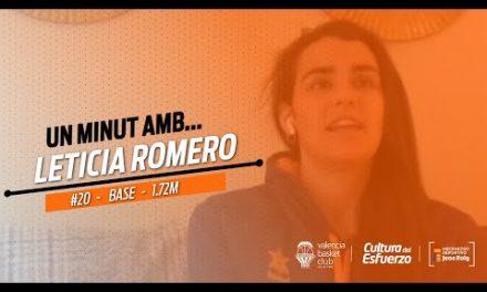 1 minuto con… Leticia Romero