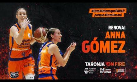 Anna Gómez renueva con Valencia Basket