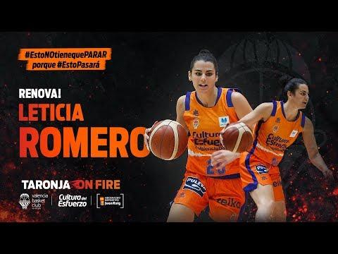 Leticia Romero renueva como jugadora taronja