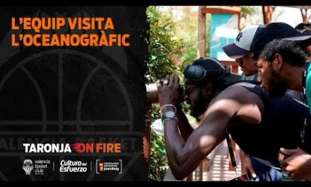 Valencia Basket cambia su rutina visitando el Oceanográfico