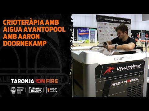 Crioterapia con agua Avantopool de Rehabmedic con Aaron Doornekamp