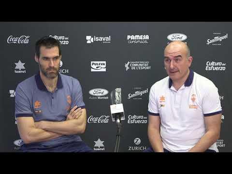 Rueda de prensa Jaume Ponsarnau y Fernando San Emeterio pre semis Liga Endesa vs K. Baskonia
