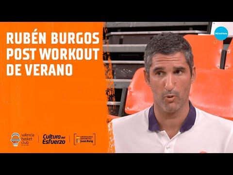 Rubén Burgos post workout de verano