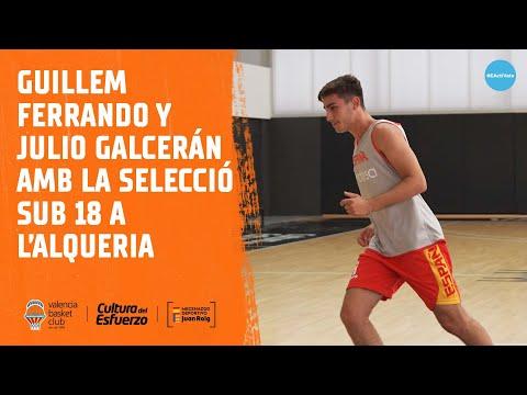Guillem Ferrando y Julio Galcerán con la selección sub18 en L'Alqueria