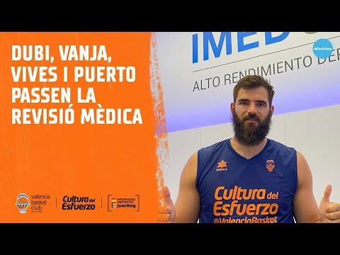 Dubi, Vanja, Vives y Puerto pasan la revisión médica en IMED-UCV