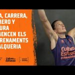 Primeros entrenamientos Pina, Romero, Segura y Carrera en L'Alqueria