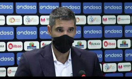 Rubén Burgos y Queralt Casas post semis Supercopa LF Endesa