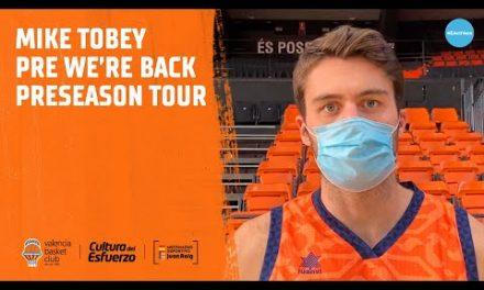 Declas Mike Tobey pre We're Back Preseason Tour