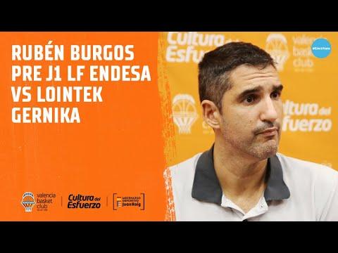 Rubén Burgos pre J1 Liga Femenina Endesa vs Lointek Gernika