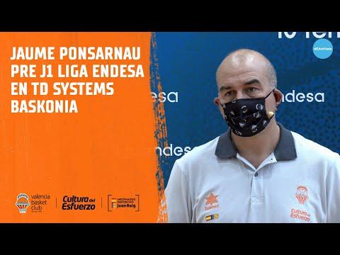 Jaume Ponsarnau Pre J1 Liga Endesa en TD Systems Baskonia