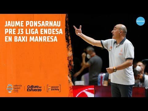 Jaume Ponsarnau Pre J3 Liga Endesa en BAXI Manresa