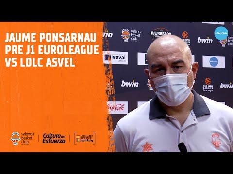 Jaume Ponsarnau Pre J1 Euroliga vs Asvel