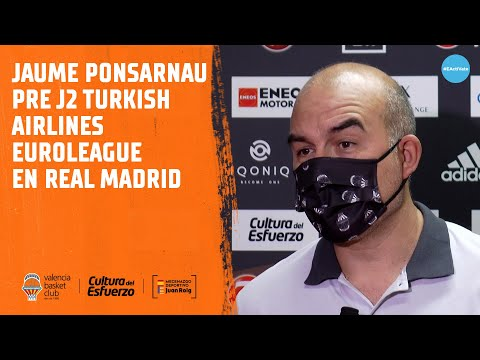Jaume Ponsarnau Pre J2 Turkish Airlines Euroleague en Real Madrid