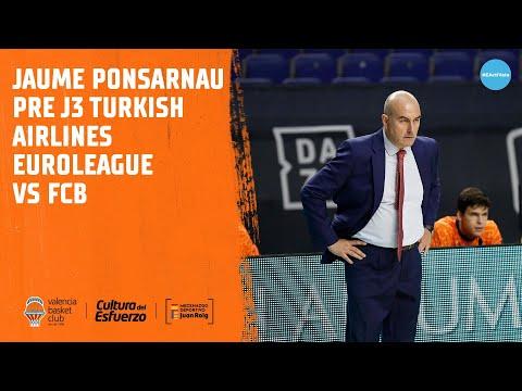 Jaume Ponsarnau Pre J3 Turkish Arilines Euroleague vs FBC