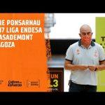 Jaume ponsarnau pre J7 Liga endesa vs Zaragoza