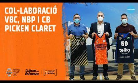 Colaboración entre Valencia Basket, CB Picken Claret y Nou Bàsquet Paterna