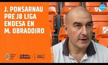 Jaume Ponsarnau pre J8 Liga Endesa en Monbus Obradoiro