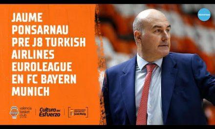 Jaume Ponsarnau Pre J8 Turkish Airlines Euroleague en FC Bayern Munich