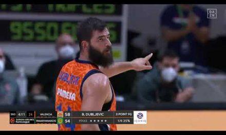 Triple Bojan Dubljevic para ser el máximo anotador de la historia del Valencia Basket