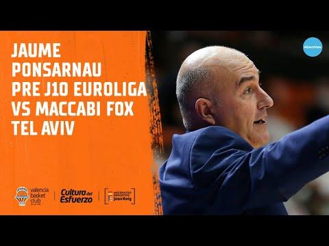 Jaume Ponsarnau Pre J10 Euroliga vs Maccabi Fox Tel Aviv