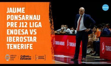 Jaume Ponsarnau Pre J12 Liga Endesa vs Iberostar Tenerife