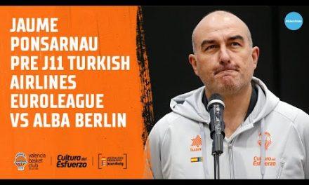 Jaume Ponsarnau Pre J11 Euroliga vs Alba Berlin