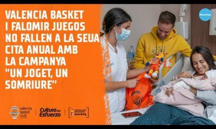Valencia Basket y Falomir Juegos no fallen a la seua cita anual amb ''un joget, un somriure''