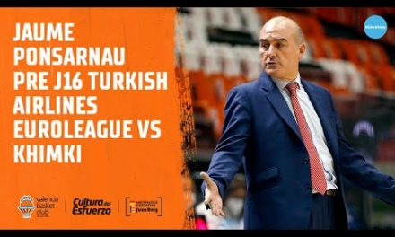 Jaume Ponsarnau Pre J16 Turkish Airlines Euroleague vs Khimki