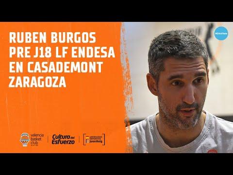 Rubén Burgos pre J18 LF Endesa en Casademont Zaragoza