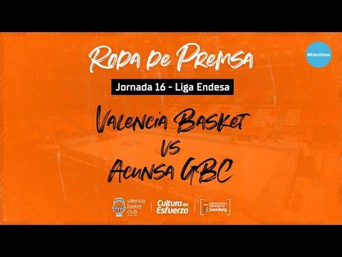 Rueda de Prensa post J16 Liga Endesa vs Acunsa GBC