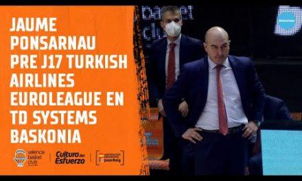Jaume Ponsarnau Pre J17 Euroliga en Baskonia