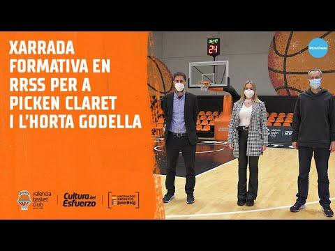 Valencia Basket forma con charlas de RRSS a Picken Claret y L'Horta Godella