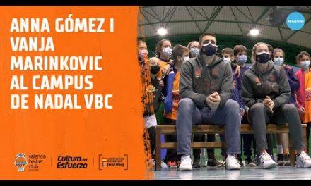 Anna Gómez i Vanja Marinkovic al Campus de Nadal VBC