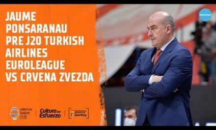 Jaume Ponsarnau pre J25 vs CRVENA ZVEZDA
