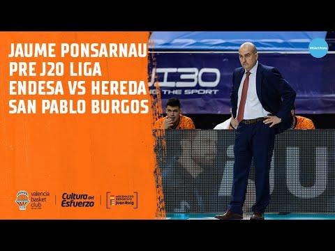Jaume Ponsarnau Pre J20 Liga Endesa vs Hereda San Pablo Burgos