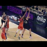 2 tapones en 3 segundos de Raquel Carrera pre J3 Eurocup Women vs Saint Amand Hainaut Basket