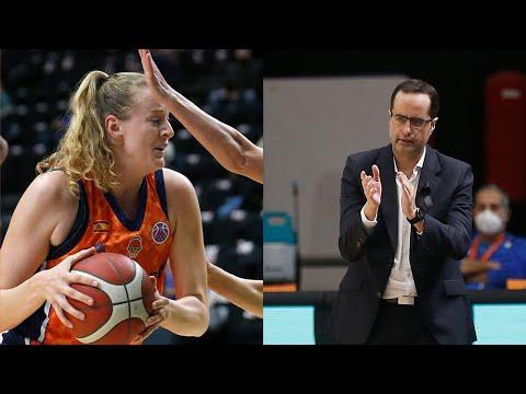 Marie Gülich y Santi Pérez post J3 Eurocup Women vs Saint-Amand Hainaut Basket