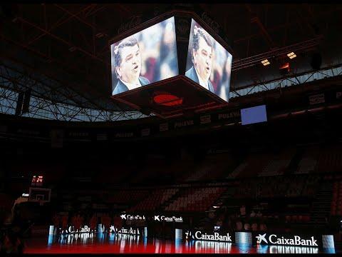 Tributo a Miki Vujovic en la Fonteta vs TD Systems Baskonia en J21 Liga Endesa