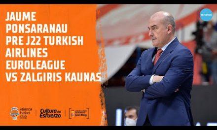 Jaume Ponsarnau Pre J22 Euroliga vs Kaunas