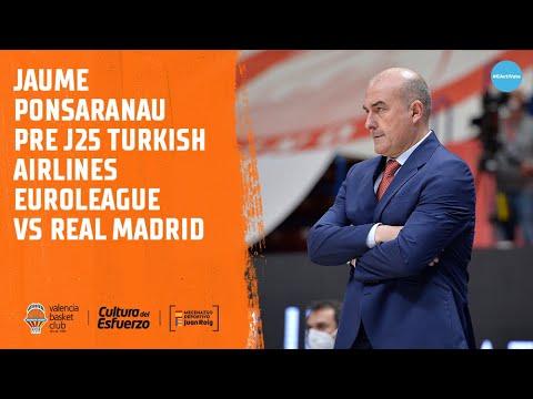 Jaume Ponsarnau Pre J25 Turkish Airlines Euroleague vs Real Madrid