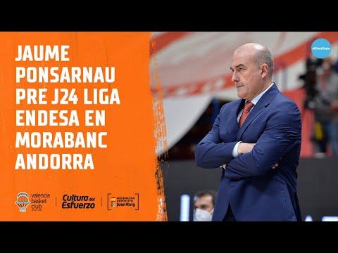 Jaume Ponsarnau pre J24 Liga Endesa en MoraBanc Andorra