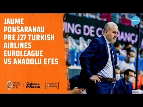 Jaume Ponsarnau Pre J27 Euroliga vs Anadolu Efes
