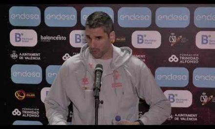 Rubén Burgos y Cristina Ouviña post Cuartos Copa de la Reina vs IDK Euskotren